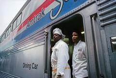 Unsung heroes (Moffat Road) Tags: railroad oregon train portland or diner amtrak rainy chef coaststarlight passengertrain superliner