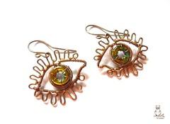 Lgy szemfles! (kricsr) Tags: eye wire earring jewelry copper wirewrapped