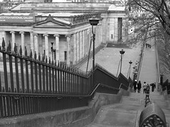 Images of Edinburgh (Tony Worrall) Tags: old city uk urban art museum buildings scotland high edinburgh gallery tour place walk candid country north scottish atmosphere down visit tourist step rails tall atmospheric built scots olden playfairsteps ©2014tonyworrall