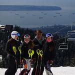 Kelowna Ski Club girls at 2014 Keurig Cup Spring Series Slalom at Grouse PHOTO CREDIT: Derek Trussler