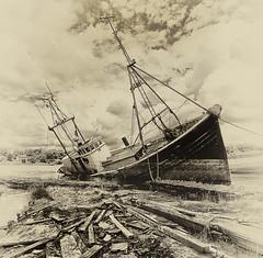 Death Throes (explored) (yadrad) Tags: lake southwest rotting plymouth hull hulk wreck plymstock radfordlake hooelake