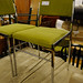 Chrome and Green fabric chair