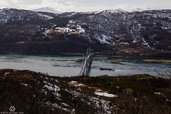 Tjeldsundbrua and Boat (Jan-Roger Olsen) Tags: bridge nature norway landscape boat norge natur bt bru troms landskap tjeldsund