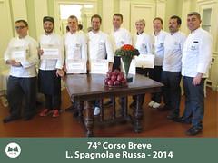 74° Corso Breve in Cucina, Cultura ed Enologia Italiana L. Spagnola e Russa del 17 Marzo 2014