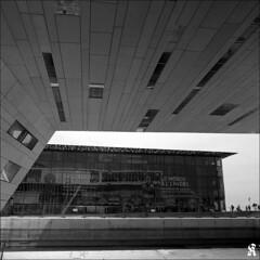 The world upside down (Krzysztof Jurzynski) Tags: world blackandwhite bw france 120 6x6 museum architecture modern zeiss buildings mediumformat 50mm blackwhite marseille europe upsidedown noiretblanc muse nb moderne hp5 flektogon filmcamera provence monde kiev ilford j4 400iso noirblanc perpective btiments czj kiev88cm carlzeissjena moyenformat microphen lenvers lajoliette mucem 50mmf4flektogon