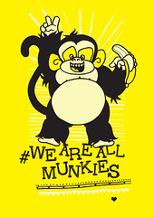 Ziko We Are All Monkeys (DimitraTzanos) Tags: barcelona original ladies girls summer cute sexy men art against animal kids print stars t monkey design clothing graphics funny tank you drawing african unique no live character soccer creative adorable teenagers guys dani funky personality bananas shirts only once fans vests tshirts racism tops alves munky antiracism apparel tees footballer ziko yolo tzanos yeboland weareallmonkeys