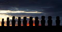 Mysterious Easter Island (marko.erman) Tags: ocean beach sunrise landscape sand king paysage moai easterisland plage rapanui ahu anakena tongariki pacifique ariki iledepaques hotumatua