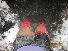 IMG_7668 (ThighBootsinMud) Tags: snow leather fetish boot mud boots thigh heels muddy patent