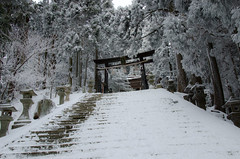 Atago-Jinja in Winter, Kyoto /  (Kaoru Honda) Tags: city winter mountain snow nature japan trekking landscape japanese nikon kyoto shrine outdoor hiking traditional mountainclimbing  mountaineering         atagoyama mountaintrail       atagojinja   d7000