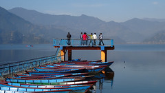 Pokhara /  (Nepal) - Phewa Lake (Danielzolli) Tags: nepal lake tourism landscape lago see lac paisaje lakeside paysage landschaft pokhara phewa jezioro jezero ezero   liqeni pejsaz   lgh