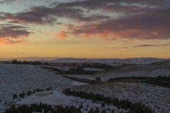 Pentlands Sunset Midlothian (Colin Myers Photography) Tags: winter sunset sun snow mountains colin set river landscape photography scotland landscapes stream warm edinburgh scottish calm hills land serene scape mid inviting atmospheric lothian myers pentland midlothian colinmyersphotography