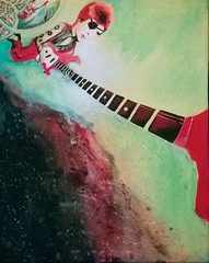 Space Oddity by Selene Leal (laseleneleal) Tags: art acrylic davidbowie ziggystardust spaceoddity musicicon artbyseleneleal