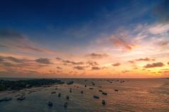Pamban Fishing Harbour (ayashok photography) Tags: bridge sunset sea india asian nikon asia indian railway bluesky dude desi tamilnadu rameshwaram rameswaram bharat bharath