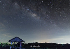 Milky way (cuongchido) Tags: trees light sky cloud tree canon way stars landscape star countryside outdoor milky canon60d tokina1116mm