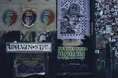 123/366 (abnormalbeauty.) Tags: street urban blackandwhite art wall typography stickers popart posters bricklane