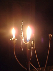 Unusual wax formation on candle (joyteale) Tags: candlelight winterstorm nopower