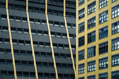 New York Architecture #271 (Ximo Michavila) Tags: city nyc windows urban usa newyork abstract black building geometric lines yellow architecture cityscape archidose archdaily archiref ximomichavila