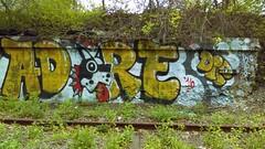 Adore (Randall 667) Tags: street urban art train island graffiti artwork artist exploring tracks writer clementine rhode dip adore tagger ador