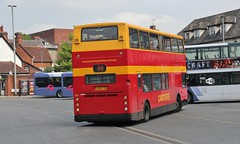 LX04 FYB, Carters Dennis Trident at Ipswich Old Cattle Market on the final day as an independent company, 27th. May 2016. (Crewcastrian) Tags: buses transport alexander 407 ipswich carters dennistrident lx04fyb