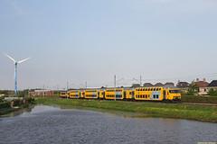 20160511 NSR 7208+1768, Heemskerk (Bert Hollander) Tags: hk ns geel trein stam vijver windmolen nsr heemskerk ledig ddm1 7208 testrit herinstructie 82108lmutghlm