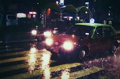 The Typhoon Strikes Back (NOAC_) Tags: life street city urban storm reflection wet car rain weather japan photography japanese photo kyoto cityscape pentax taxi snapshot picture pic reflected rainy photograph moment typhoon pentaxk5iis