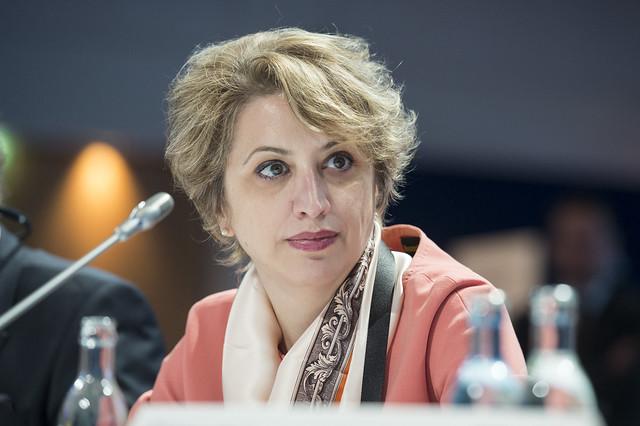 Argita Totozani at Closed Ministerial Session