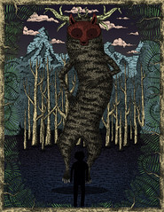 de viajes y bsquedas (Cacto pinhole) Tags: selfportrait illustration digital forest ink drawing draw dibujo cacto ilustracin leonardosanchez cactopinhole