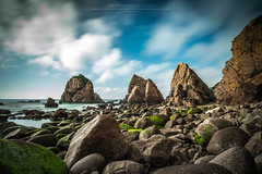 Pyramids (Luis Sousa Lobo) Tags: sky praia beach canon cabo sintra playa cu filter lee nuvens 1018 pedra cascais roca ursa rocha 10stops eos70d