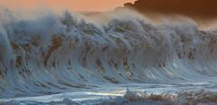 walled up (bluewavechris) Tags: ocean sea beach water canon hawaii surf wave maui spray foam lip curl swell shorebreak