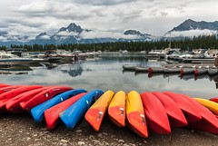 Colter Bay (greggohanian) Tags: lake mountains boats canoes mountmoran grandtetons tetons kayaks colterbay jacksonlake