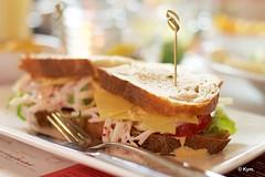 Lunch (Kym.) Tags: cheese tomato lunch thenetherlands sandwich lettuce veggie radish rucola somebodyelseskitchen