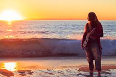 Ocean Waves & Raven (Dizzodin) Tags: ocean travel sunset sea portrait senior colors girl fashion waves ukulele journey boho raven soulful letrendary