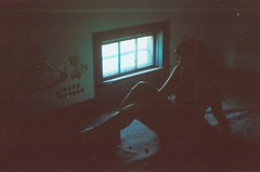 (littlehoneybee) Tags: house selfportrait abandoned film girl wisconsin analog rural 35mm canon midwest decay farm abandonment