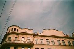 Saint-Petersburg     -   Castles Towers Buildings History Sepia Pastel Analogue Oldschool Slide Film City Streets Faade Architecture Facades Petersburg (le d u m) Tags: city streets history castles film sepia architecture facade buildings pastel towers petersburg slide facades oldschool analogue saintpetersburg faade