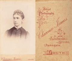 Portrait of a Lady by Clarence James of Louth (Bury Gardener) Tags: uk portrait england vintage victorian lincolnshire cdv oldies louth cartedeviste