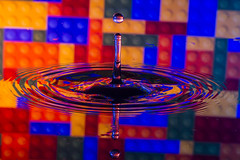 iBuild! (The Mad Macrographer) Tags: waterdrops splash reflections refraction lego canon7d canonef100mmf28lmacroisusm indoors tabletopphotography studio peterborough uk nikkvalentine amateurphotographermagazine amateursgroup amazingmacrophotography