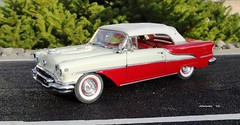1955 Oldsmobile Super 88 Convertible (JCarnutz) Tags: 1955 super88 oldsmobile diecast 124scale danburymint