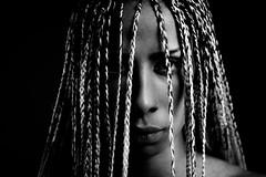 chrysalide (aminefassi) Tags: africa portrait people blackandwhite bw fashion canon studio noiretblanc flash morocco tresse maroc 5d casablanca lightning bbg lowkey mode castel  login  fashionportrait  ef85mmf18usm strobist aminefassi lolacastel