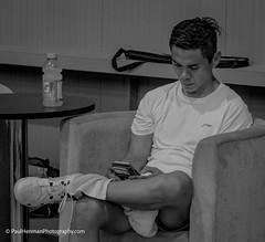 All work and no play (Paul Henman) Tags: blackandwhite toronto ontario canada monochrome competition badminton badmintoncompetition paulhenman annualtournament badinto httppaulhenmanphotographyca queenscup2016 epicsports