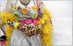 Baltimore Bling (crabsandbeer (Kevin Moore)) Tags: summer people color fashion kids fun costume 60s pattern kitsch jewelry baltimore event gloves 50s bling tacky beehive hampden subtle garish hons cafehon honfest