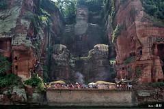 Leshan Giant Buddha _ (Ken Goh thanks for 2 Million views) Tags: china giant landscape tour pentax buddha sigma mount chengdu leshan 1020 k1 emei  archetiture