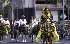 100th Anniversary King Kamehameha Celebration Floral Parade 2016 25 (JUNEAU BISCUITS) Tags: flowers horse holiday floral hawaii oahu parade lei hawaiian honolulu horseback kingkamehameha hawaiiana kingkamehamehastatue kamehamehadayparade paurider