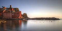 cinque terre sunset (mariusz kluzniak) Tags: sunset italy architecture bay pier europe long exposure vivid terre colourful cinque