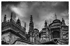 Up in Granada (andbog) Tags: blackandwhite bw espaa building church monochrome architecture spain cathedral cloudy sony edificio catedral iglesia overcast andalucia bn chiesa espana granada es alpha sonya baroque andalusia sel renaissance architettura biancoenero spagna pinnacles csc cattedrale oss capillareal nuvoloso ilce esglsia sonyalpha mirrorless 1650mm a6000 sony emount silverefexpro2 selp1650 googlenikcollection sonyalpha6000 ilce6000 sonya6000 sonyilce6000 sony6000 6000