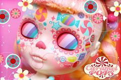 Caramelpops Candievera SugarDrops ( Caramelaw ) Tags: pink cute skulls skull doll dolls candy sweet ooak sugar lolita approved pullip blythe custom sugarskulls calavera candyskulls caramelpops caramelaw
