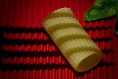 Macro Monday: Shadows (BribbroPhoto) Tags: red macro stripes pasta rosso hmm strisce rigatone macromondays canoneos6d canonef100mmf28lmacroisusm