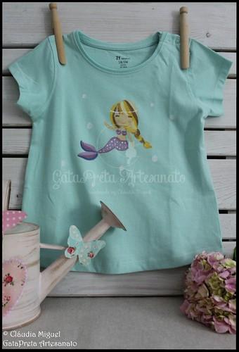 """T-shirts de criança """"Bailarinas e Sereias"""""""
