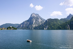 Angel Gruev - Alps Lake (dj_art) Tags: austria alps lake traunsee landscape photo photography picture mountain hills boat travel traveling