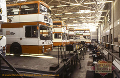 Bolton bus garage, 1980 (GMTS Collection) Tags: bus buses pits museum manchester garage transport pit bn workshop bolton depot sunken standard leyland parkroyal gmt cheetham eastlancs greatermanchestertransport atlantean museumoftransport 7845 cheethamhill boylestreet gmts una845s greatermanchestertransportsociety gmtscollection m88uw wwwgmtscouk