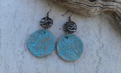 (katerina66) Tags: texture handmade jewellery polymerclay earrings